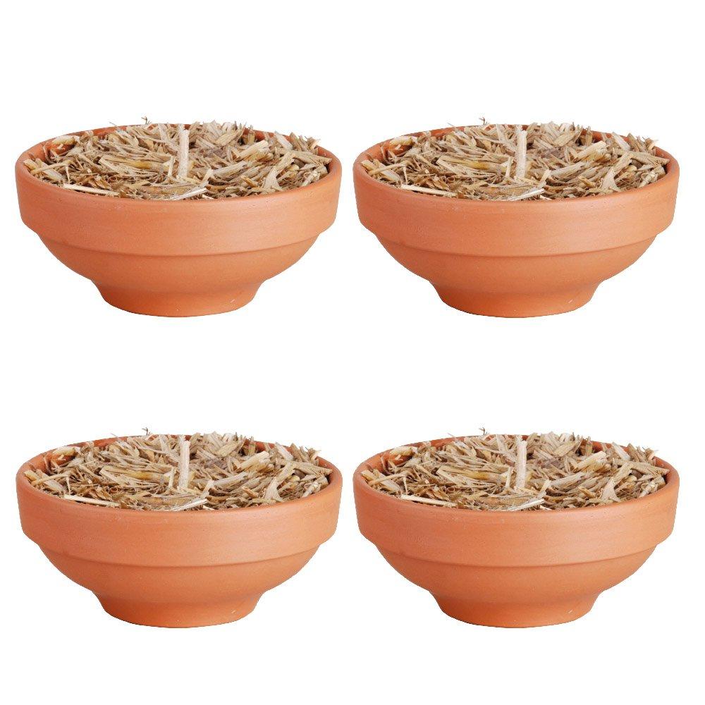 Esschert Design FF124 Fire Bowl in Terracotta Pot, Set of 4 by Esschert Design