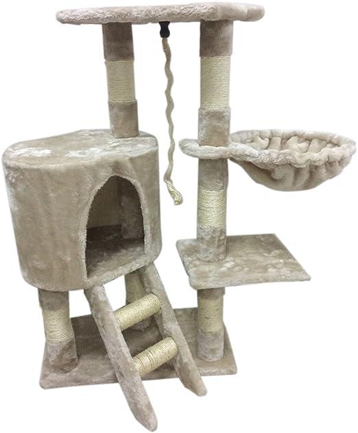 MAKPON Árbol rascador para Gatos, 96 cm, con Cuerda y Hamaca ...