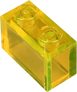 LEGO Parts and Pieces: Transparent Yellow 1x2 Brick x100