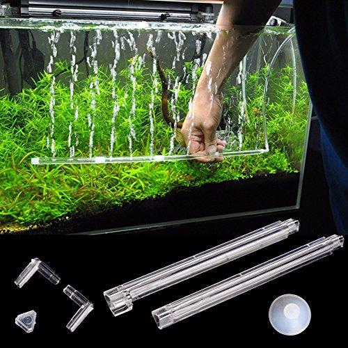 Plastic Aquarium Fish Tank Curtain Air Vent Bubble Bar Release Diffuser Set Fish Tank Accessories Decor