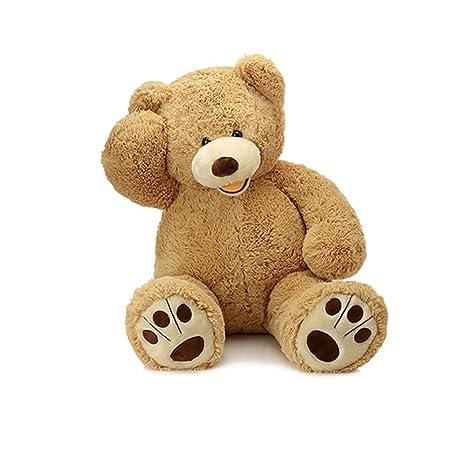 Amazon.com  MorisMos Giant Teddy Bear with Big Footprints Plush Stuffed  Animals Light Brown 39 inches  Toys   Games b73c58f9e