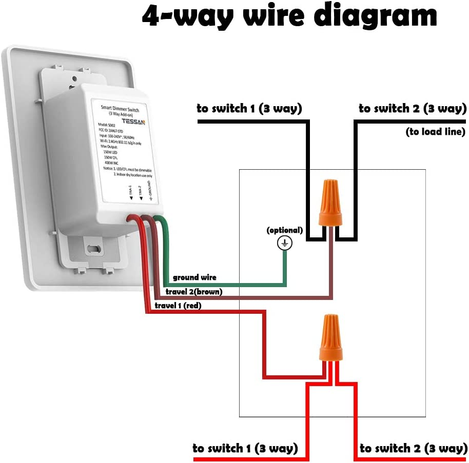 3 way dimmer switch wiring diagram 2 extra add on smart dimmer switch  add on 4 way switch for tessan 3  extra add on smart dimmer switch  add