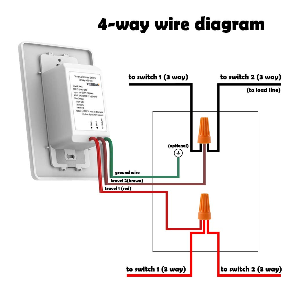 Extra Add-on 3 Way Smart Dimmer Switch, Work as Slave Add on 4 Way Switch  for TESSAN 3 Way WiFi Dimmer Switch Kit, Can not Work Alone: Amazon.com:  Industrial & ScientificAmazon.com