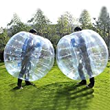 FOSHAN MINGZE(Pack of 2) Blue Clear Bubble Soccer Ball Dia 4' (1.2meter) Human Inflatable Bumper Bubble Balls