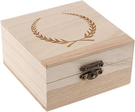 PETSOLA Caja Decorativa del Sostenedor del Anillo De Madera De La ...