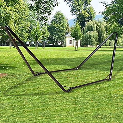 Double people Universal Hammock Stand Heavy Duty 12-gauge Steel Fit 9 to 13 ft Hammock Multi-Use Tubing 2 Persons 500 Pound Capacity - Large - Heavy Duty Steel Tubing