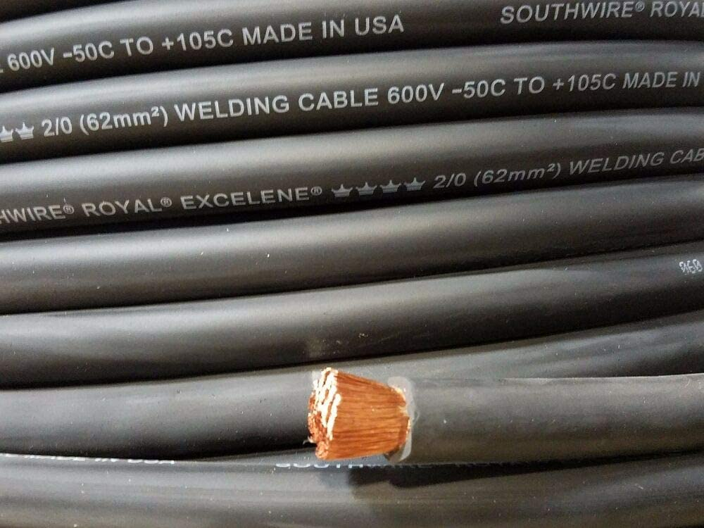 100/' 4//0 EXCELENE WELDING BATTERY CABLE RED MADE IN USA  600V UP TO 600 AMPS