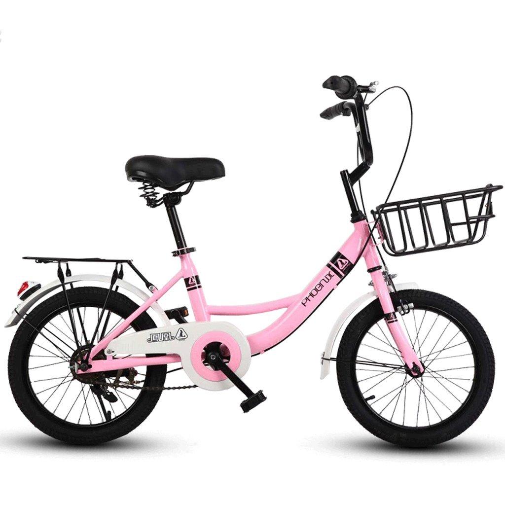 子供の自転車16インチの女の子の自転車6-12男性と女性の子供の赤ちゃんキャリッジスクール子供の車 (色 : ピンク ぴんく) B07D6NBPZQピンク ぴんく