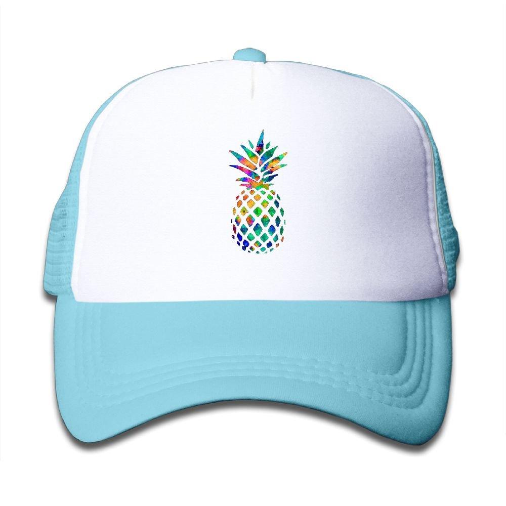 Elephant AN Colorful Pineapple Mesh Baseball Cap Kid Boys Girls Adjustable Golf Trucker Hat
