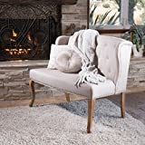 Great Deal Furniture Eva Natural Beige Tufted Fabric Loveseat Review