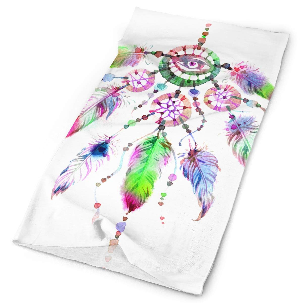 Dreamcatcher Watercolor Unisex Fashion Quick-Drying Microfiber Headdress Outdoor Magic Scarf Neck Neck Scarf Hooded Scarf Super Soft Handle