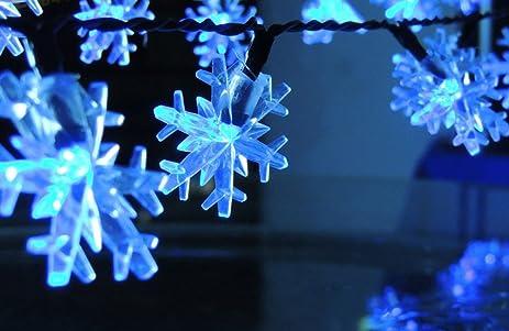 snowflake string light jltph battery powered led starry fairy lights for festival wedding christmas