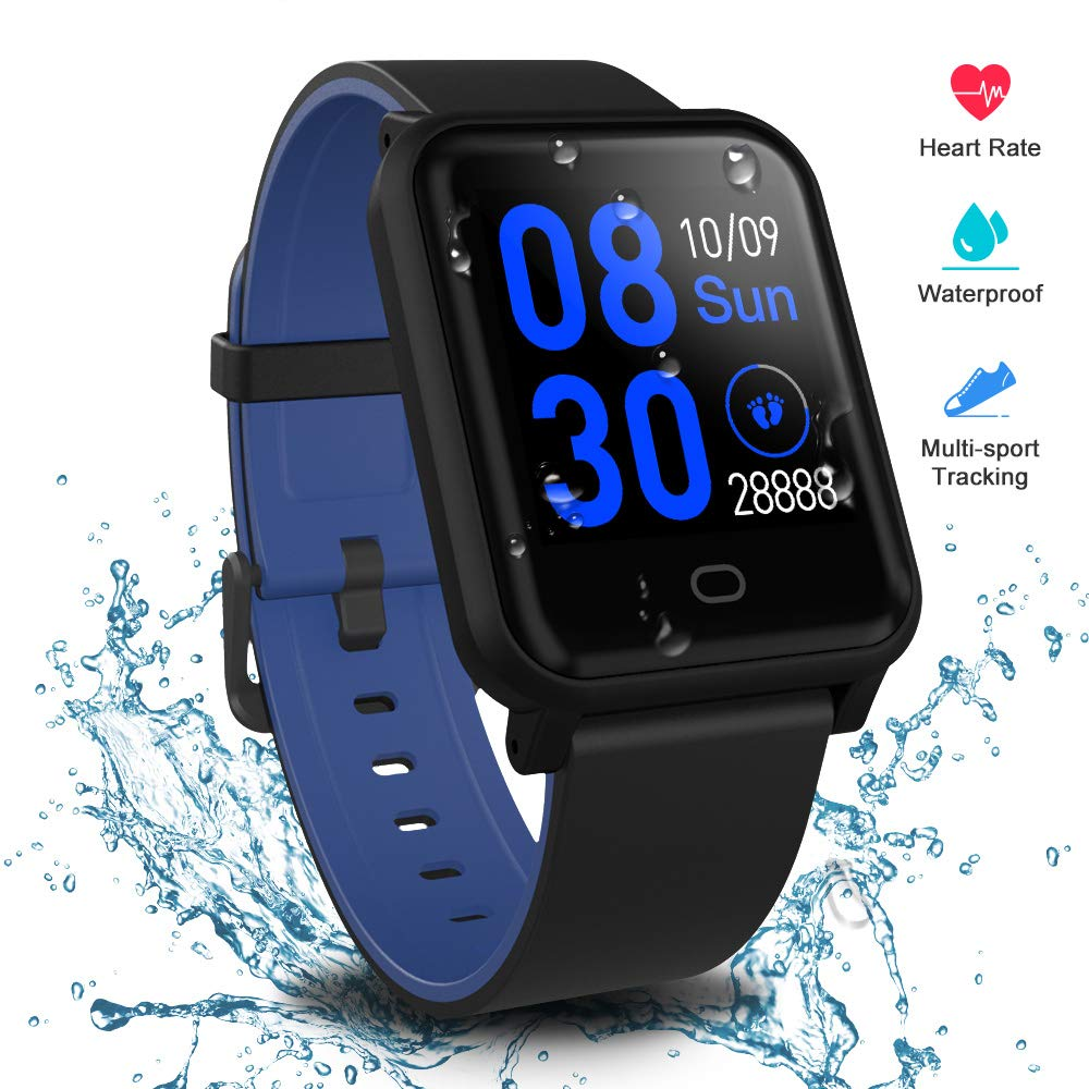 Fitpolo Health Smart Watch, Waterproof Fitness Tracker HR with Sleep Monitor, Step Calories Counter, Stopwatch, Breath Training, Pedometer, Activity Tracker for Kids Woman Man