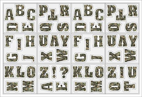30 Pieces Chroma Graphics 45016 2 Camo Letters and Numbers Kit Decal