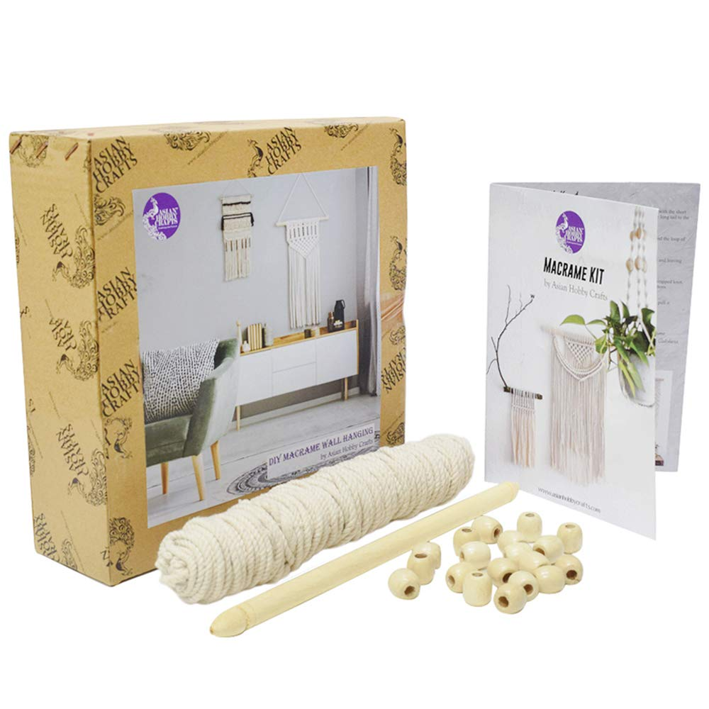 Asian Hobby Crafts DIY Macrame Wall Hanging Kit - Make one Complete Wall Hanging from This kit