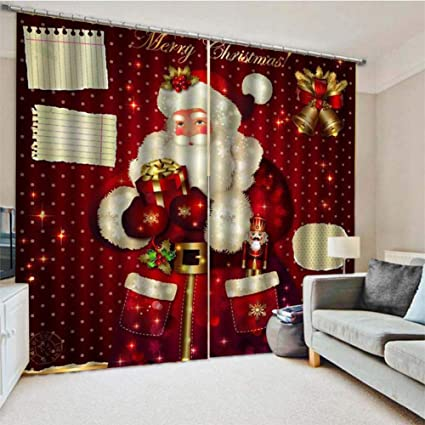 Amazon.com: totalshop Christmas Curtain 3D Printing Curtain ...