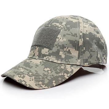 7830d86160ba8 Malloom Unisex Hombres Mujeres Sombrero Gorro Camuflaje Selva Beisbol  Ejército Caza Visera Sombrero Sol al Aire Libre Deporte con Velcro ( Camuflaje 1 )  ...