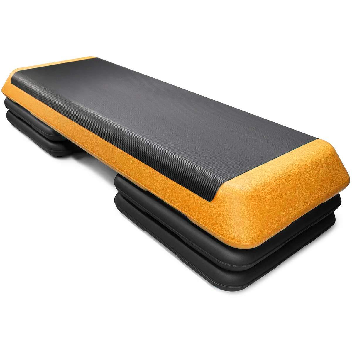 "Goplus 43'' Step Platform Adjustable Fitness Aerobic Stepper 4"""