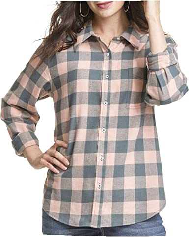 Wrangler Lw8053m Camisa con Botones de Franela de Pizarra Oscura para Mujer - Rosa - Medium: Amazon.es: Ropa y accesorios