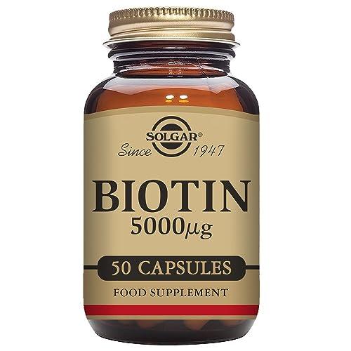 Solgar Biotin 5000 µg Vegetable Capsules - Pack of 50