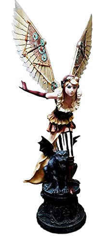 Large 26 Tall Prototype Steampunk Fairy Surveyor Flight Spy On Gargoyle Statue