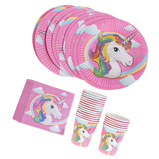 40 Unidades Encantadora Unicornio Mágico Pony Servilletas De ...