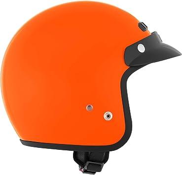Motorcycle Half Helmet Open Face Orange Large CKX VG-500 Helmet DOT