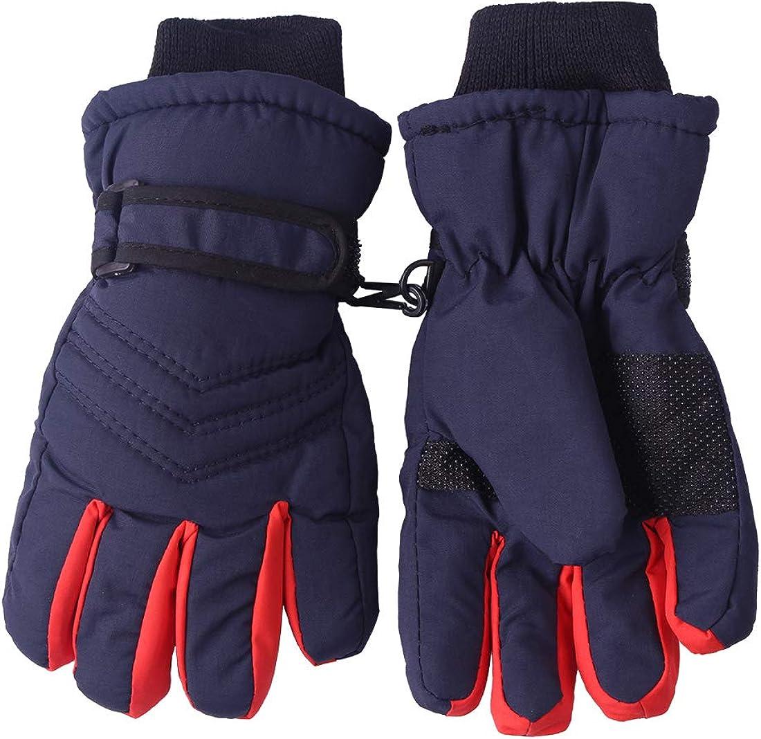 Kid's Boy Girl Fleece Winter Gloves Mittens Non Slip Riding Driving Hiking Ski Sports at  Women's Clothing store