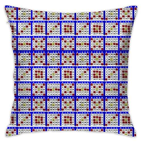 Towel&bag Bingo Cards 6on Pillow Cover 18