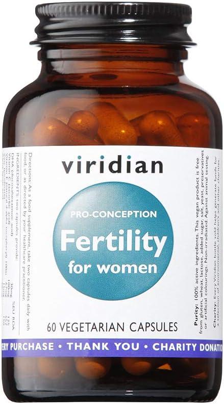 Viridian Fertility Para Mujeres, 60 Cápsulas, Pack de 1: Amazon.es ...