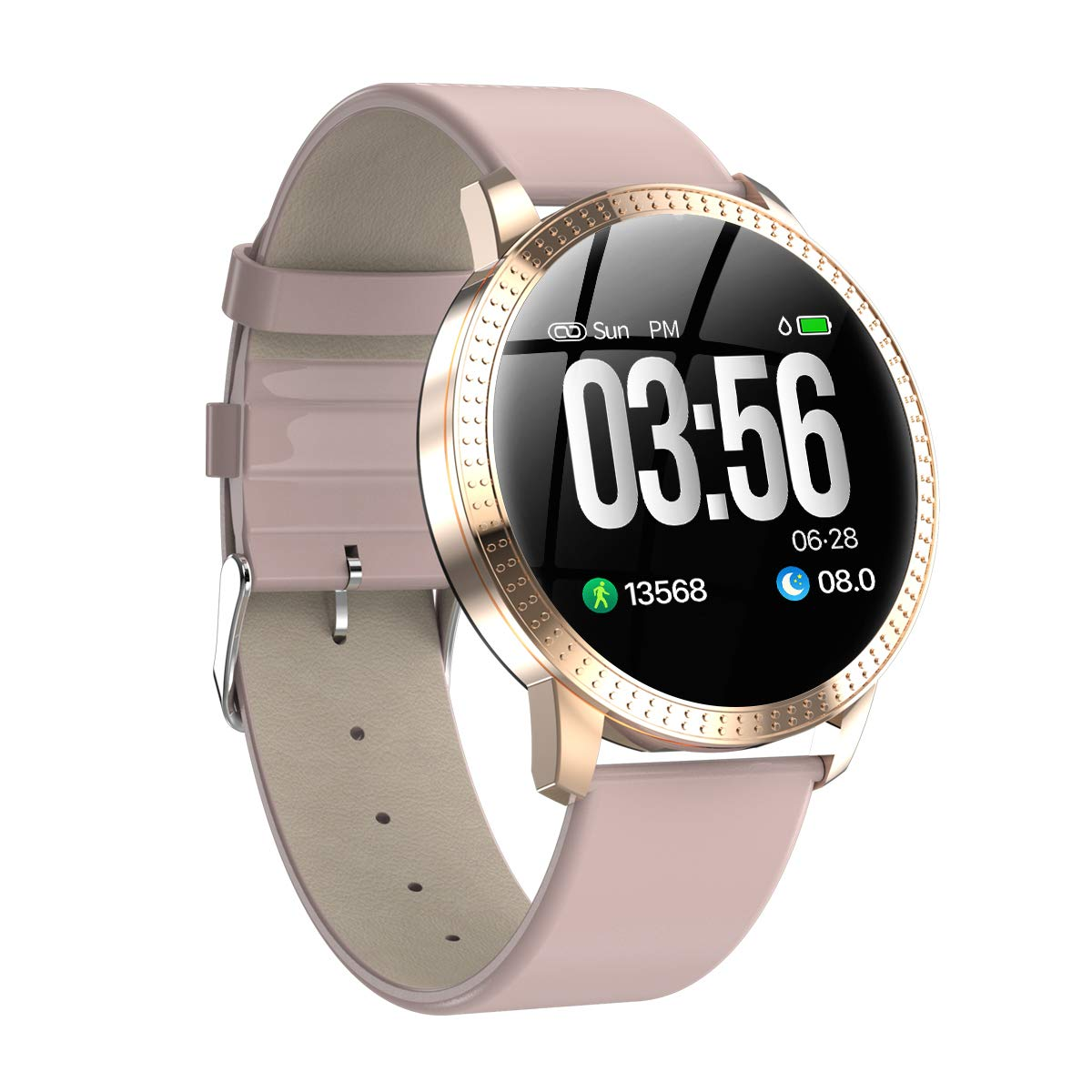 Fitness Tracker,Waterproof IP67 Smart Watches Color Screen Fitness Watch with Heart Rate Monitor Fitness Trackers Pedometer Watch Step Counter Sleep Monitor Calorie Counter for Kids Women Men,Pink