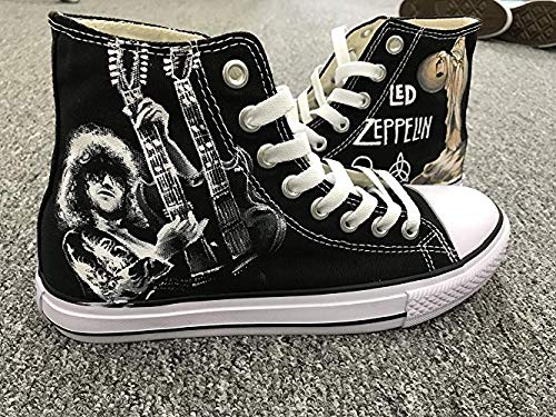 - Led Zeppelin Jimmy Page Hand Painted Shoes Custom Shoes For Men Painted Shoes Custom Chuck Taylors Men Women FREE SHPPING