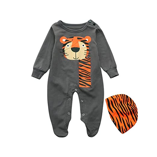1a8e4f94d52b FORESTIME baby clothes boy FORESTIME Toddler Infant Baby Boys Cartoon Cute  Long Sleeve Playsuit Jumpsuit Cap Outfits