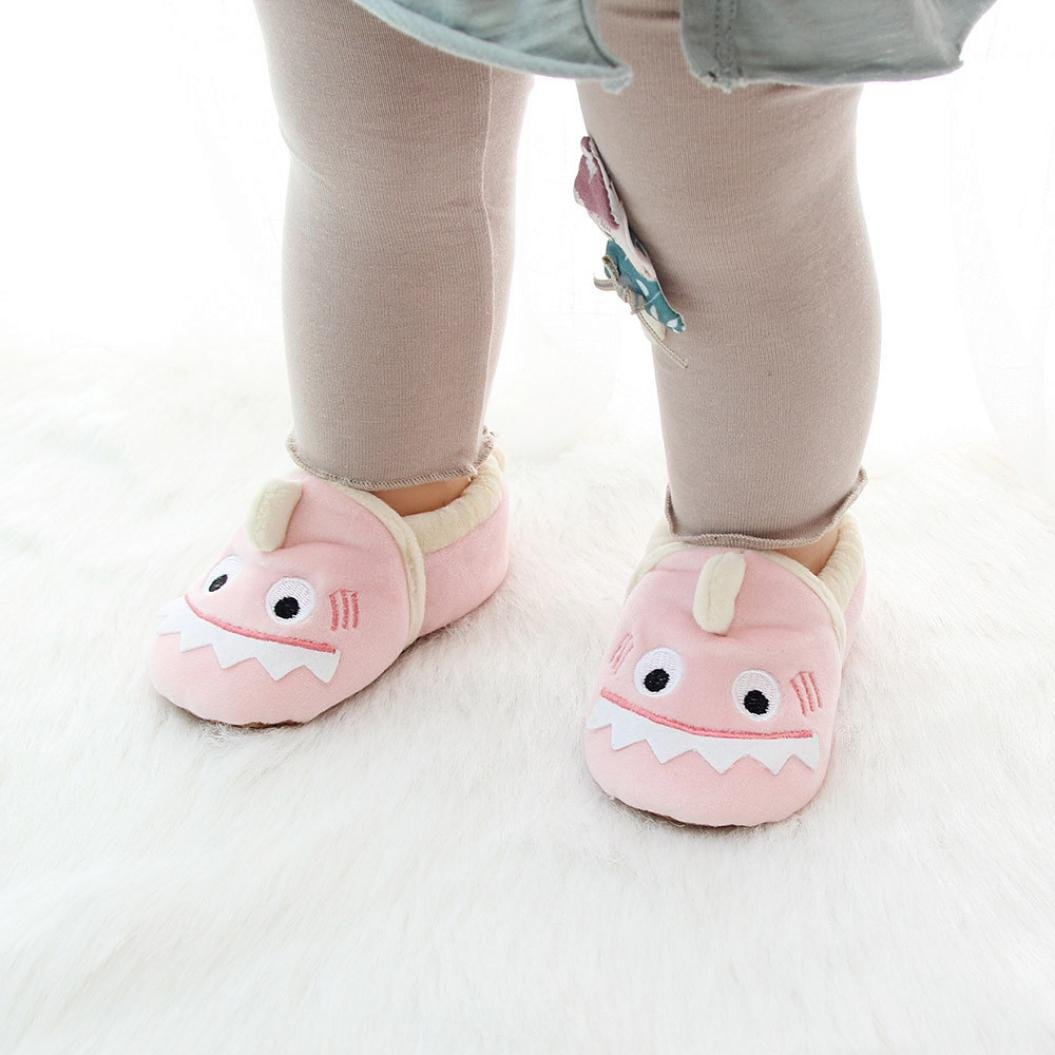 Ltrotted Baby Girl Boy Soft Cartoon Design Toddler Warming Crib Shoes Household Shoes