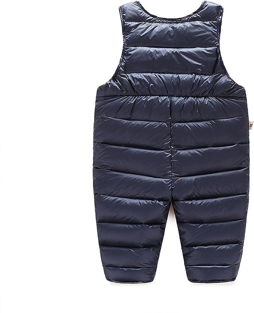 Tortor 1bacha Baby Toddler Little Boys Winter Puffer Snow Bib Overall Pants