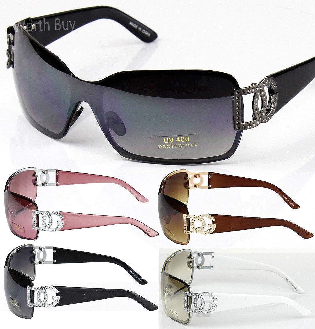 Womens DG Fashion Aviator Sunglasses Celebrity Oversized
