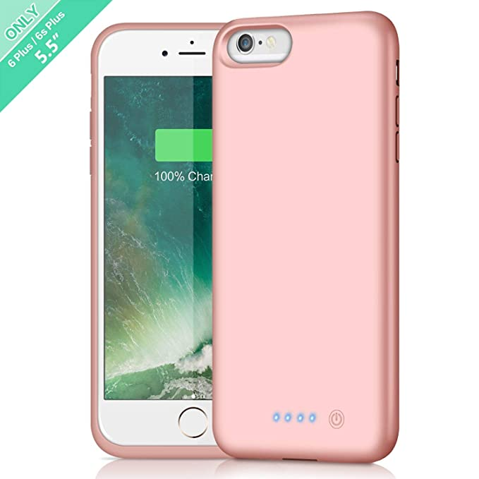 big sale 16c69 cd297 Battery Case for iPhone 6s Plus/6 Plus,8500mAh Portable Rechargeable  Charging Case External Battery Pack for iPhone 6Plus/6sPlus Protective  Charger ...