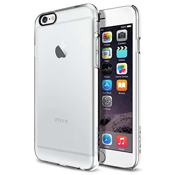 on sale 85fa8 5ef53 Spigen Thin Fit iPhone 6 Case with Premium Matte Finish Coating for iPhone  6S / iPhone 6 - Crystal Clear
