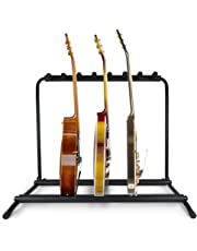 Pyle Multi Guitar Stand 7 Holder Foldable Universal Display Rack With No slip Rubber Padding - PGST43