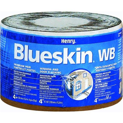 Henry BH200WB4559 Blueskin Weather Barrier Self-Adhesive Waterproofing Membrane, 50' Length x 4