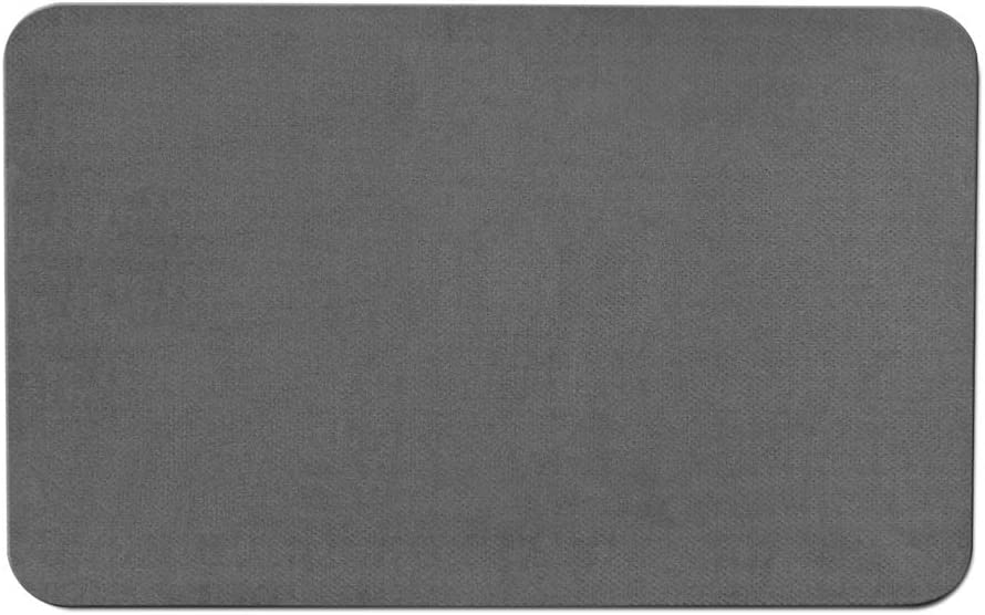 House, Home and More Skid-Resistant Carpet Indoor Area Rug Floor Mat - Gray - 3 Feet X 5 Feet