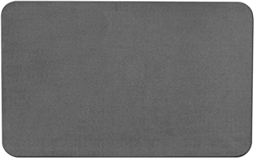 House, Home and More Skid-Resistant Carpet Indoor Area Rug Floor Mat – Gray – 8 Feet X 12 Feet