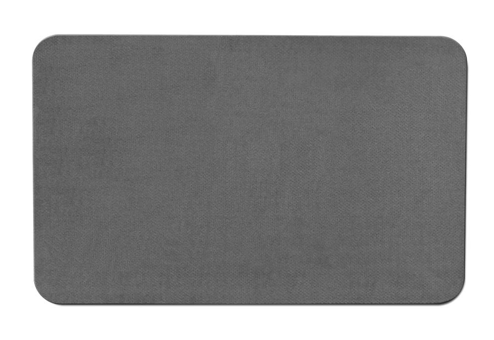House, Home and More Skid-resistant Carpet Indoor Area Rug Floor Mat - Gray - 2' X 3' - Many Other Sizes to Choose From
