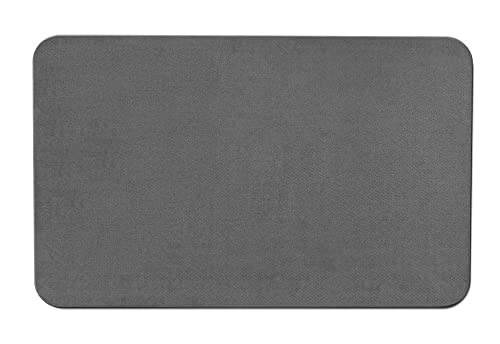 House, Home and More Skid-Resistant Carpet Indoor Area Rug Floor Mat – Gray – 3 Feet X 5 Feet