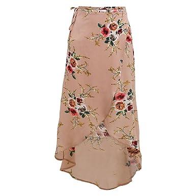 Bubudong Faldas largas de gasa con estampado floral Falda larga ...