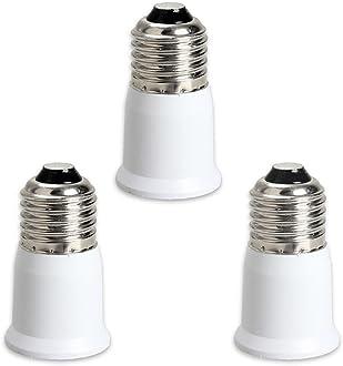 Fineled 3-in-1-Lampenfassungs-Adapter-Splitter Universal-Lampenhalter E26 um 180 Grad biegbar E27 um 360 Grad verstellbar