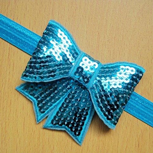 QHGstore glänzendes Haar Baby-Band-Knoten-Bogen-Mädchen-Baby-Kind-Haar-Zusätze lila Rosa