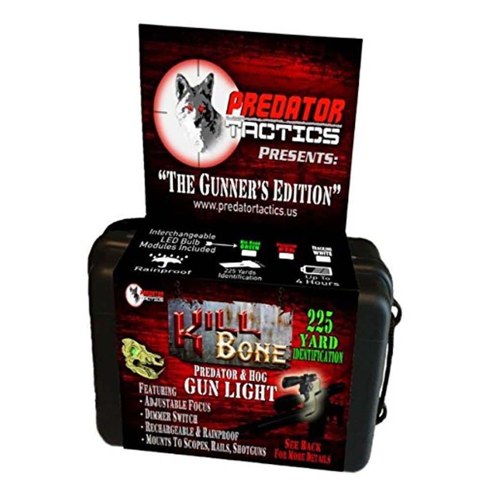 Predator Tactics KillBone Gunner's Light Kit, Single Bulb, Red