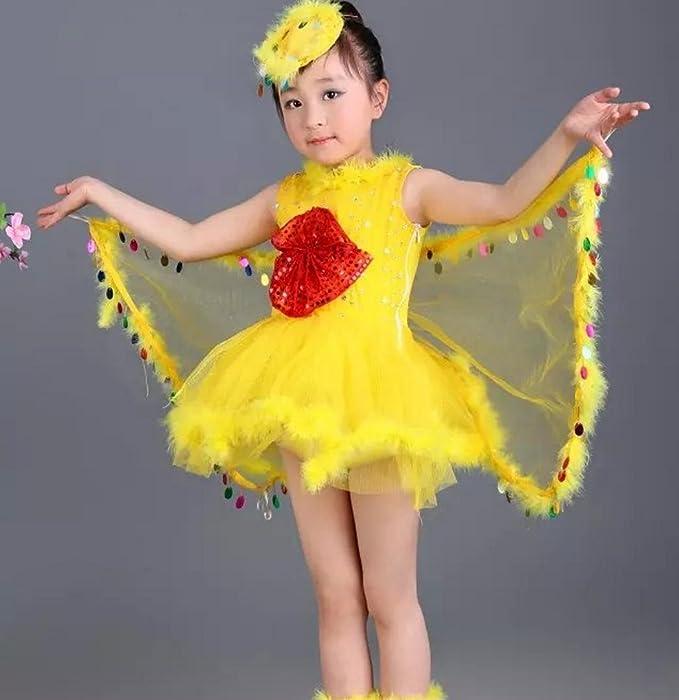 HUOFEINIAO Disfraces de Aves para niños Disfraz de Danza del ...