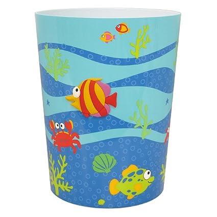 Allure Home Creation Fish Tails Plastic Wastebasket